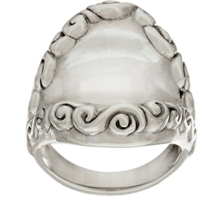"""As Is"" Carolyn Pollack Sterling Silver Signature Bold Ring"