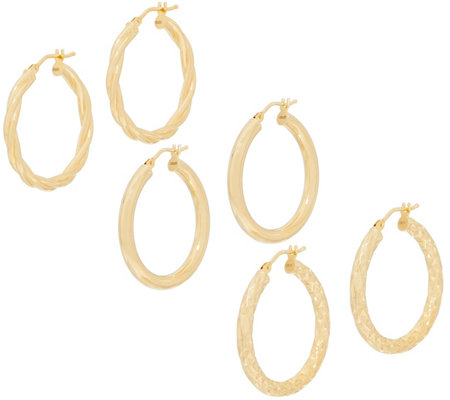 Italian Gold Hoop Earrings 14k