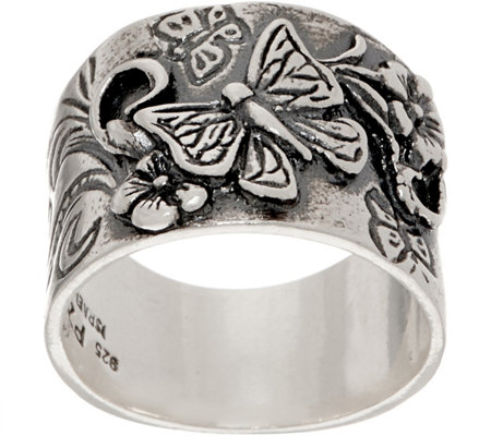 Or Paz Sterling Silver Butterfly Graduated Band Ring