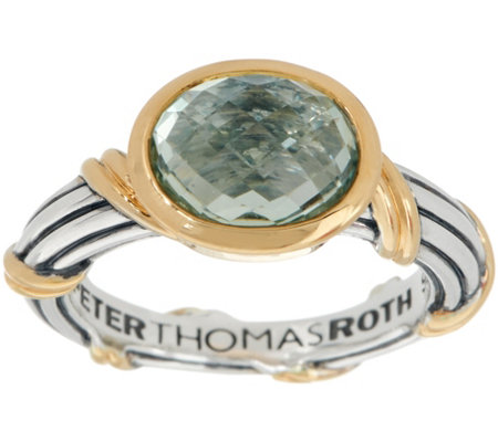 Peter Thomas Roth Sterling & 18K Clad Gemstone Ring