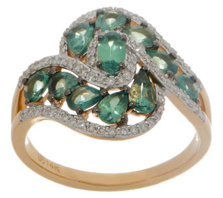 Alexandrite and Diamond Ring, 1.60 cttw, 14K Gold