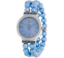 Honora Cultured Pearl and Mother-of-Pearl Stainless Steel Stretch Watch - J358294