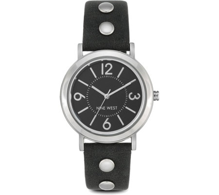 Nine West Ladies Weylen Black Strap Watch