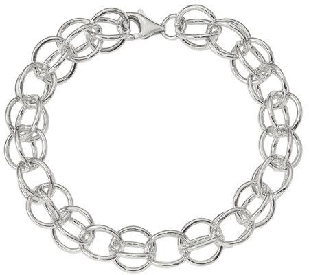 Italian Silver 7 1 2 Circle Link Bracelet 22 5g