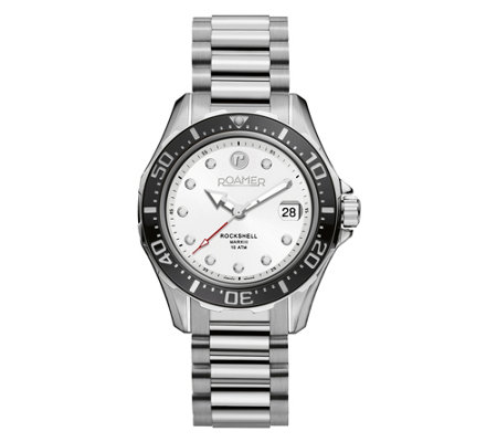 Roamer Men S Stainless White Dial Watch