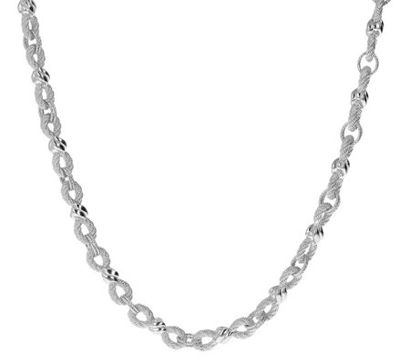 Judith Ripka Sterling Infinity Link 18 Necklace 46 8g