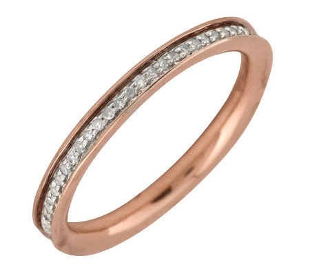 Simply Stacks Sterling Diamond 18KRose Gold-Pla ted 2.25mm Ban