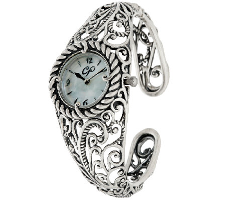Carolyn Pollack Sterling Silver Signature Cuff Bracelet Watch