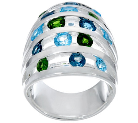 Franco P Sterling Memories 4.05 cttw Gemstone Ring