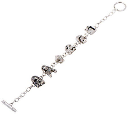Star Wars Sterling Silver Character Station Bracelet