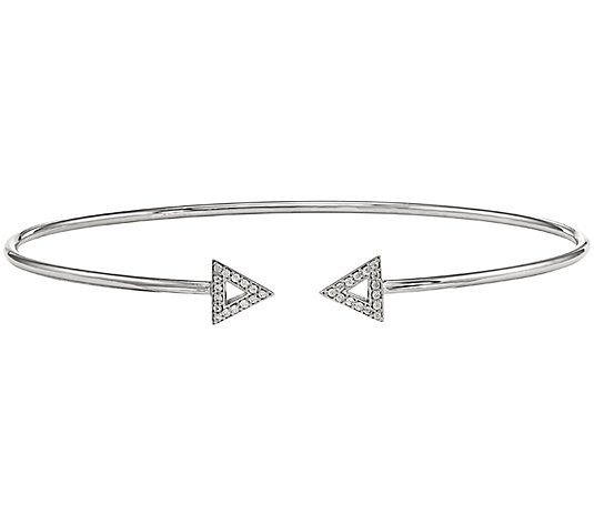 Dainty Designs 1/5 cttw Diamond Triangle Cuff,14K