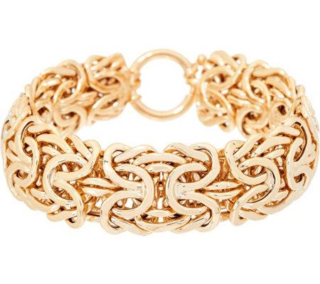 14k Gold 7 1 4 Bold Byzantine Bracelet 26 5g