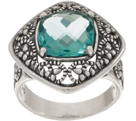Or Paz Sterling Silver 4.10 cts Fluorite Ring
