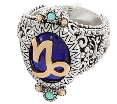 Barbara Bixby Sterling Silver & 18K Gold Horoscope Ring