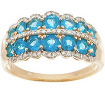 Neon Apatite Band Ring, 1.20 cttw, 14K Gold - J357095