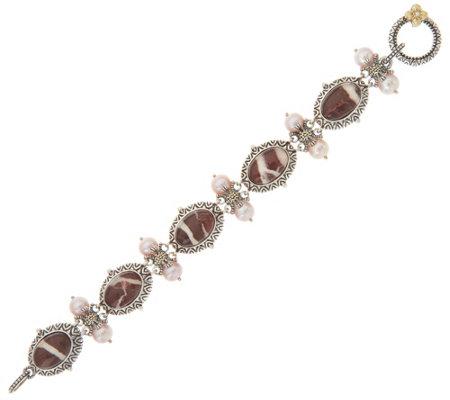 Barbara Bixby Sterling Silver 18k Gold Doublet 6 3 4 Bracelet