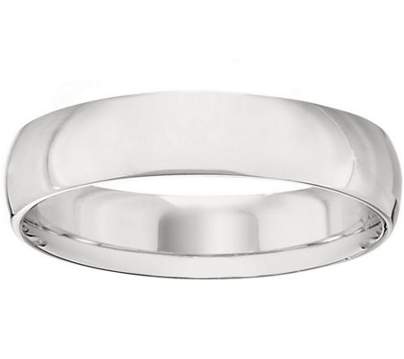 Men's Platinum 5mm Half Round Wedding Band