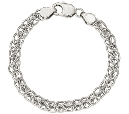 "Sterling Wheat Link 7-1/2"" Bracelet, 14.3g by Silver Style"