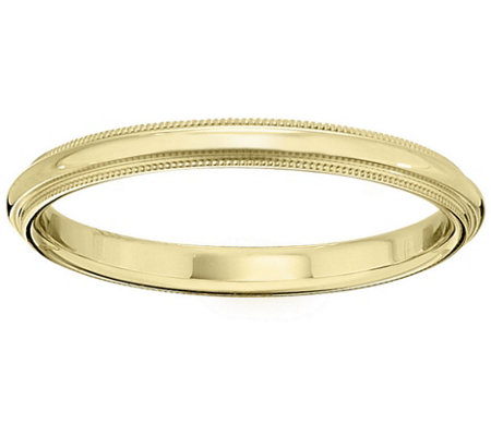 Men's 18K Yellow Gold 2.5mm Milgrain Wedding Band