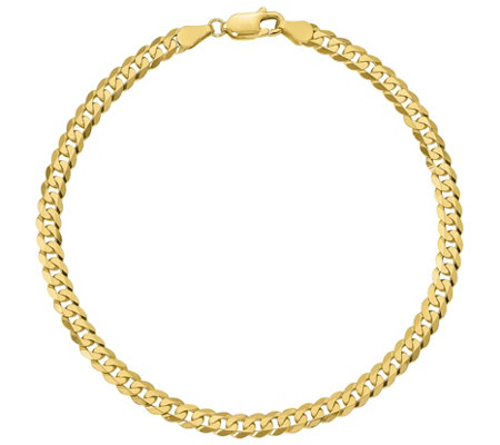 "14K Gold 9"" Men's Curb Link Bracelet, 7.6g"