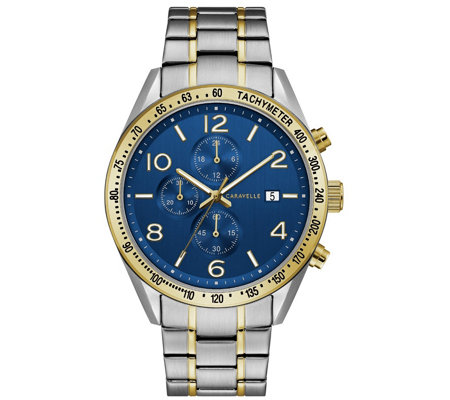 Caravelle by Bulova Men's Two-Tone Chronograph Watch