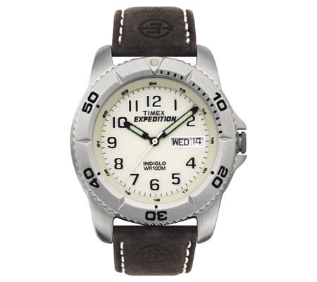 Timex Men's Expedition Watch with Brown LeatherBand