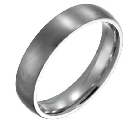 Steel By Design Men's 5mm Brushed Ring
