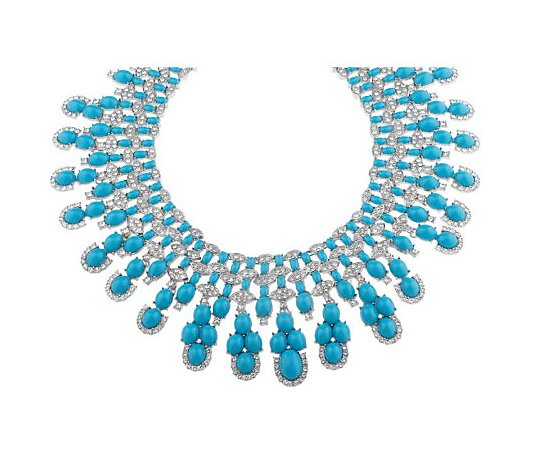Shoshanna Cabochon and Crystal Statement Necklace
