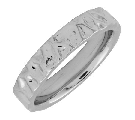 Simply Stacks Sterling Silver Wave-Style 4.25mmRing