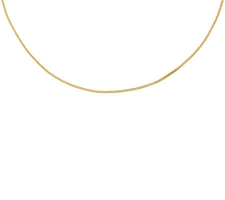 "18"" Polished Box Chain,14K Gold 2.6g"