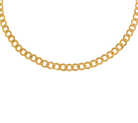 "8"" Polished Curb Link Bracelet, 14K Gold 5.60g"