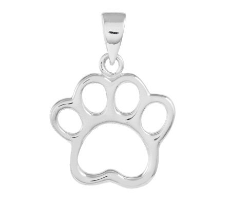 Sterling Polished Paw Pendant