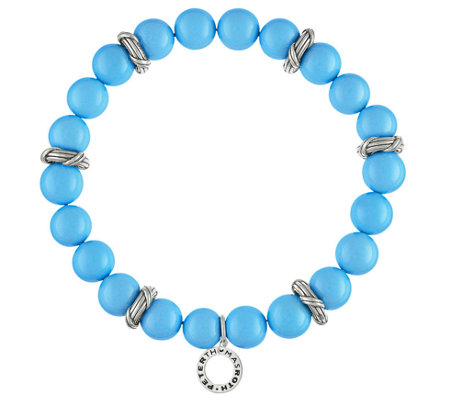 Peter Thomas Roth Sterling & Bead Stretch Bracelet