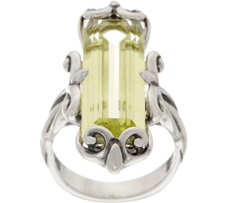 Carolyn Pollack Sterling Silver Baguette Quartz Ring