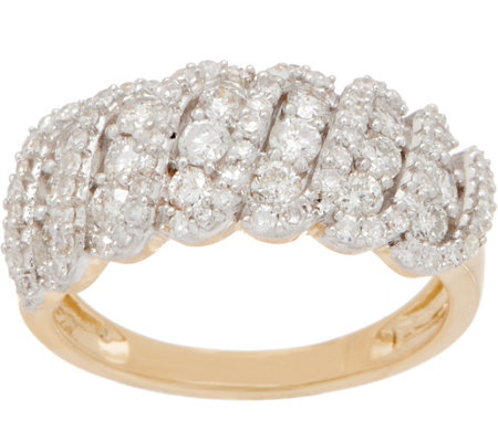 Affinity Diamond 1 00cttw Band Ring 14k Gold Page 1 Qvc Com
