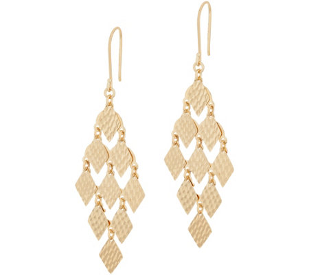 14k Gold Chandelier Dangle Earrings