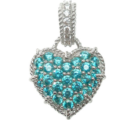 Judith Ripka Sterling Diamonique & Choice of Heart Enhancer