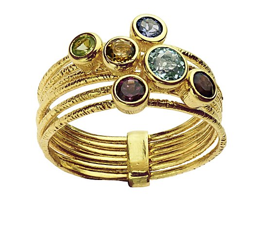 Adi Paz Multi-Gemstone 0.75 cttw Ring, 14K Gold
