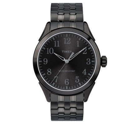 Timex Men's Black Stainless Expansion Band Analog Watch