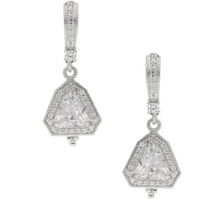 Judith Ripka Sterling & Diamonique Drop Earrings