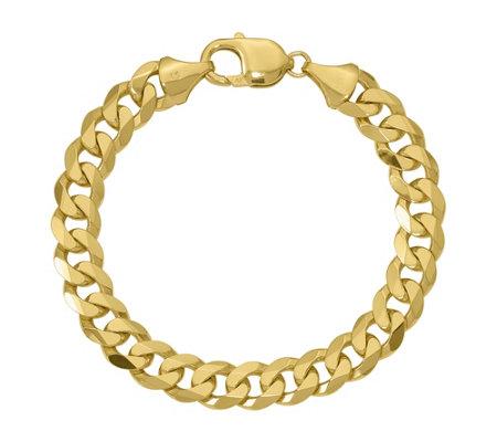 14k Gold 8 Beveled Curb Link Bracelet 30 9g