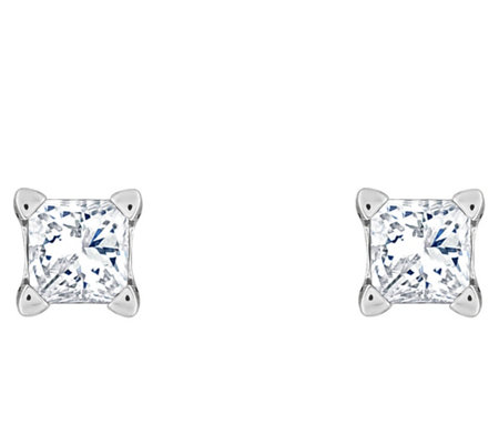 Affinity 14K 1/4 cttw Princess-Cut Diamond StudEarrings