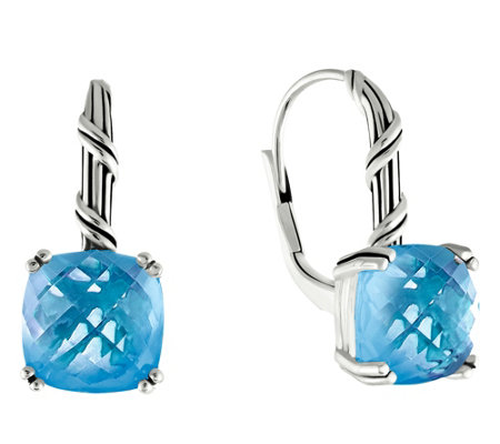 Peter Thomas Roth Sterling Fantasies Blue Topaz Drop Earrings