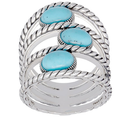 Elyse Ryan Sterling Turquoise Ring