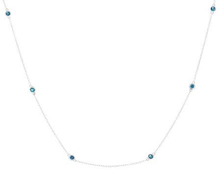 "Affinity 7/10 cttw Diamond Station 18"" Necklace, Sterling"