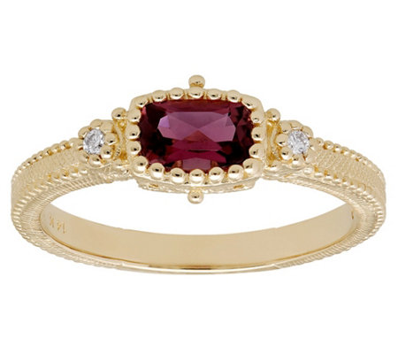 Judtih Ripka 14K Gemstone & Diamond Estate Ring