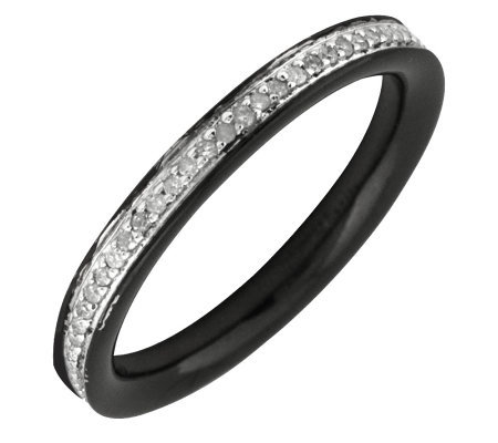 Simply Stacks Sterling Diamond Black RhodiumPlated 2.25mm Ban