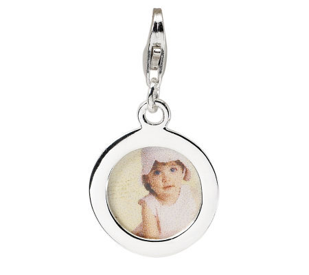 Amore La Vita Sterling Circle Picture FrameCharm
