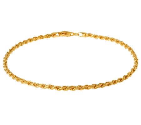 Veronese 18k Clad 20 Diamond Cut Rope Chain Necklace