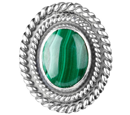 American West Treasures Sterling Malachite Magnetic Insert